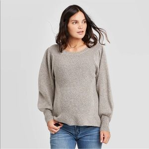Isabel Maternity Long Sleeve Textured Pullover